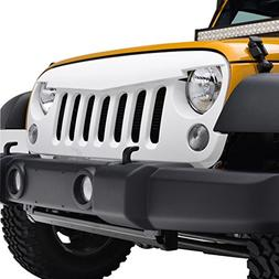 EAG 07-17 Jeep Wrangler JK Angry Bird Grille White ABS Repla
