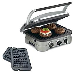 Cuisinart 5-in-1 Grill Griddler Panini Maker Bundle with Waf