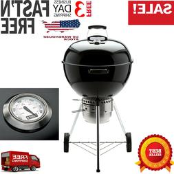 Weber 14401001 Original Kettle Premium Charcoal Grill, 22-In