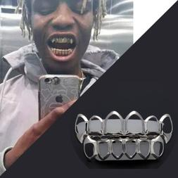14K Gold Plated Silver Hollowed-Out Hip Hop Teeth Grillz Top