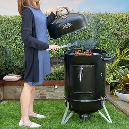 "18"" inch Charcoal Bullet Smoker BBQ Grill Outdoor Vertical P"