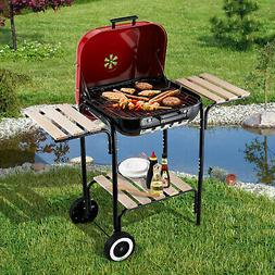 """19"""" Steel Porcelain Portable Outdoor Charcoal Barbecue Bar"""