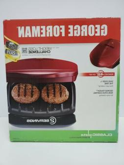 George Foreman 2-Serving Classic Plate Electric Indoor Grill