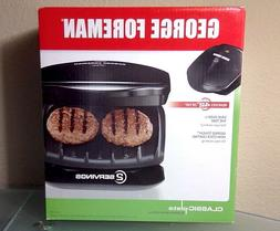 George Foreman 2-Serving Classic Plate Grill Black GR10B