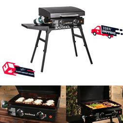 """22"""" Outdoor Portable Griddle Outside Grill Cooking W/ Bulk A"""