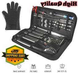 25 Pcs Grill Tools Set Stainless Bbq Grilling Barbecue Acces