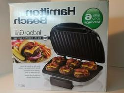 Hamilton Beach 25371 Electric Indoor Grill with 90'' Non-Sti