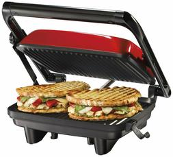 Hamilton Beach 25462Z Panini Press Gourmet Sandwich Maker, G