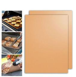 2Pcs/Pack Copper Grill Bake Mats Outdoor BBQ Barbecue Utensi