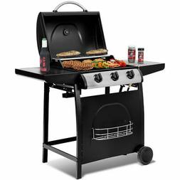 3-Burner Liquid Propane Gas BBQ Grill Backyard Barbecue Outd