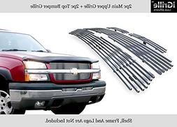 APS 304 Stainless Billet Grille Grill Combo Fits 03-05 Silve