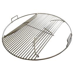 304 Stainless Steel Hinged Cooking Grate for 22.5 inch Weber