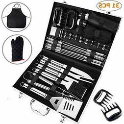 31-Piece Grill Tools Set, Heavy Duty Stainless Steel Barbecu