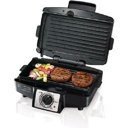 "Hamilton Beach 4 Burger 110"" Grill with Removable Grids, Sta"