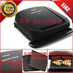 George Foreman 4-Serving IndoorRemovable Plate Grill,Panini