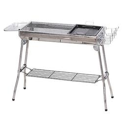 Outsunny Portable Folding Charcoal BBQ Grill Stainless Steel