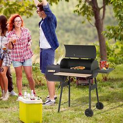 """48"""" Steel Portable Backyard Charcoal BBQ Grill and Offset Sm"""