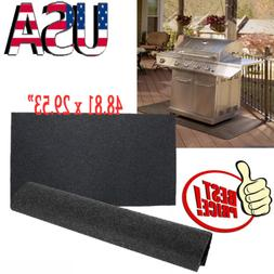"""48x30""""Gas Grill Mat Pad Floor Protective Fire Resistant Ru"""