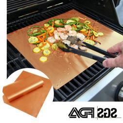 4PCS Home Garden Outdoor Copper Chef Grill and Bake Mats Cam