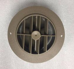 """5 1/2"""" Face 4"""" Back BEIGE Round Rotaire Grille Damper Heat A"""