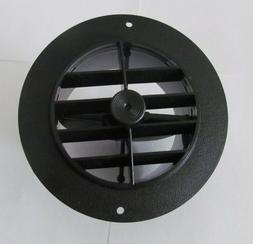"""5 1/2"""" Face 4"""" Back BLACK Round Rotaire Grille Damper Heat A"""