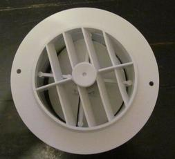 """5 1/2"""" Face 4"""" Back WHITE Round Rotaire Grille Damper Heat A"""