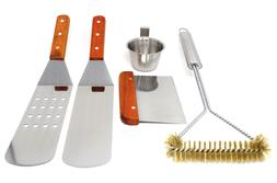 CONCORD 5 Piece Stainless Steel BBQ Griddle Utensil Accessor