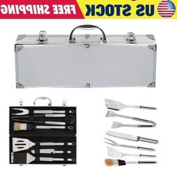 6 Piece Professional Outdoor Barbecue Grill Tool Accessories