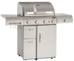 Aussie 6480 Stainless Steel 4-Burner Gas Grill with Side Bur