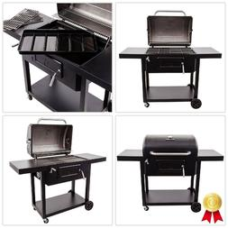 780 Square Inch Outdoor Stainless Steel Charcoal Wheeled Coo