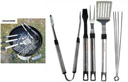 8 pc Stainless BBQ Grilling Utensil Tool set Barbecue Heavy