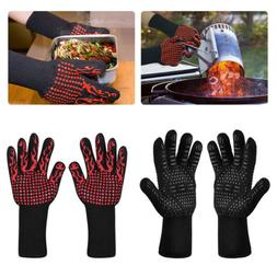 932°F Silicone Extreme Heat Resistant Cooking Oven Mitt BBQ