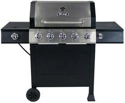 Dyna-Glo Grill Propane Gas BBQ 5-Burner Open Cart Stainless