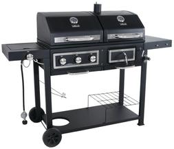 Gas Combo Grill Charcoal Hybrid Outdoor Cooking BBQ Barbecue