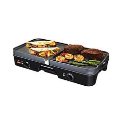 Hamilton Beach 3-in-1 Grill/Griddle & Removable Plate, 180 s