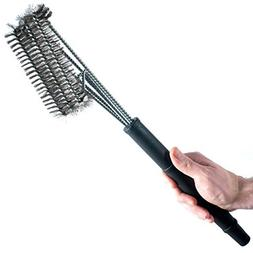 Heroic Grill Brush Stainless Steel BBQ Grill Brush with 3 Cl