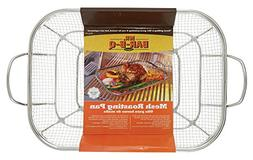 Mr. BBQ Stainless Steel Mesh Roasting Pan with Built in Stai