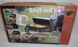 NEW CHAR-BROIL PORTABLE CHARCOAL GRILL! STEEL! CHROME RACK!