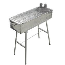 "Party Griller Yakitori Grill 32"" x 11"" - Portable Stainless"