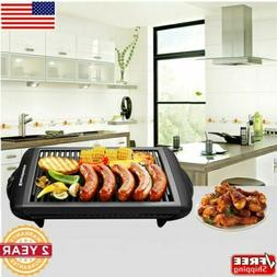 Smokeless Electric Indoor Grill Nonstick Table Top Griddle B