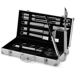 VonHaus BBQ Grill Tool Set,18-Piece Stainless Steel Barbecue