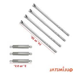 Adjustable Gas Grill Replacement Burner Tubes & Crossover fo