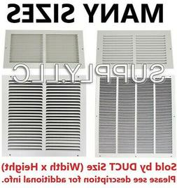 AIR RETURN VENT COVER GRILLE AC Duct Sizes Wall Sidewall Cei