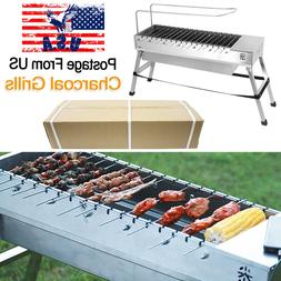 Automatic Rotating Charcoal BBQ Grill Shish Kebab Kabob Barb