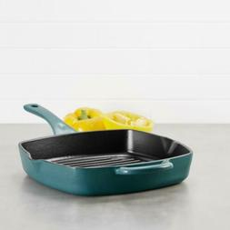 Ayesha Curry Cast Iron Square Grill Pan with Pour Spouts, 10