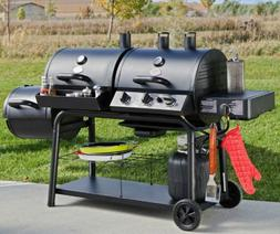 Hybrid Barbecue Cooker Grill Smoker Portable Dual Fuel 36,00