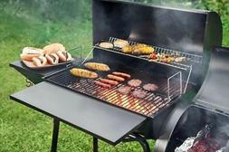 "Barbecue Grill 30"" BBQ Charcoal Smoker Backyard wSide Table"