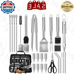 Barbecue Grill Tools Accessories with Case