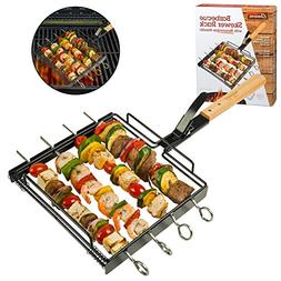 Camerons Products Skewer Rack Set for Grilling Barbecue Shis