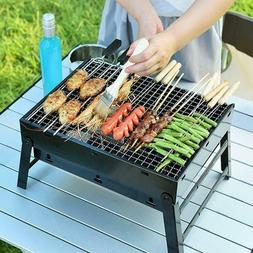 BBQ Barbecue Grill Fold Portable Charcoal Camping Fishing Ga